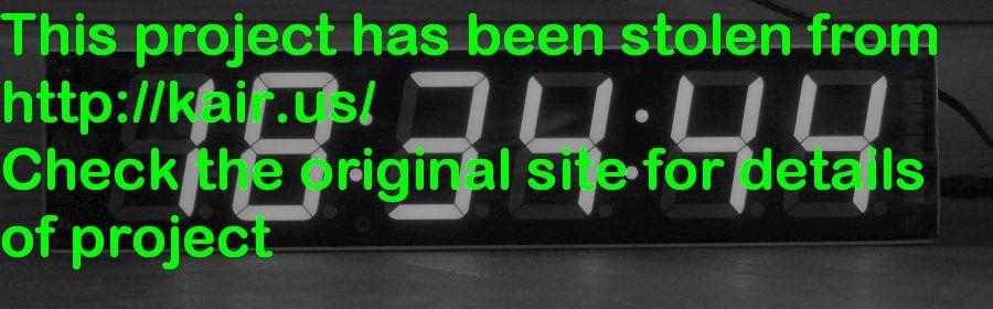 DIY accurate 7 segment clock