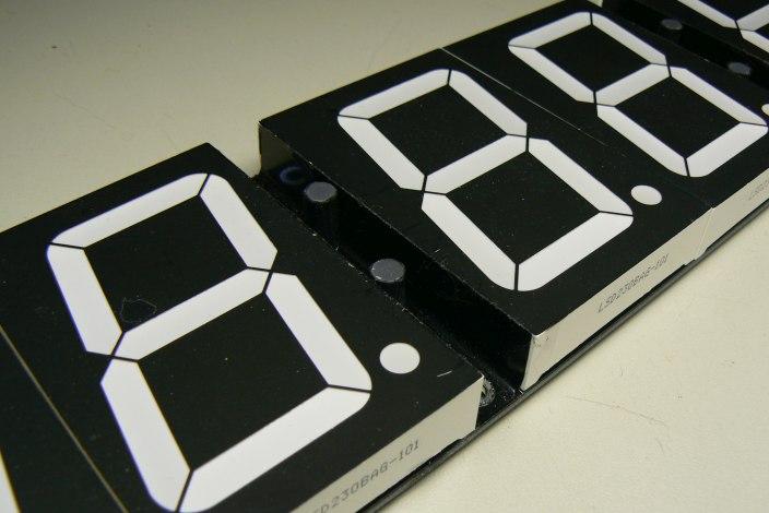 DIY big digital clock LED masking